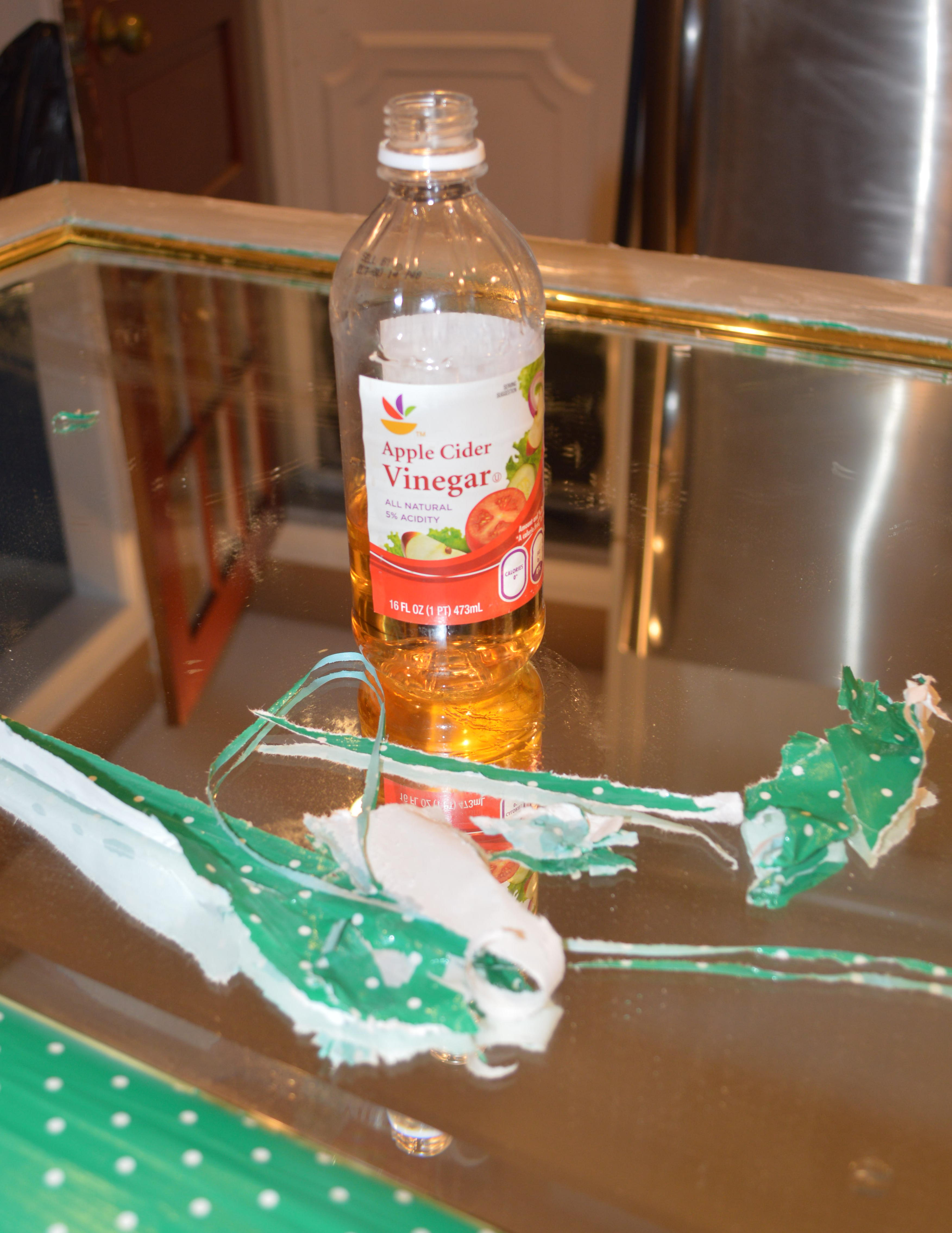 Vinegar Mod Podge Removal