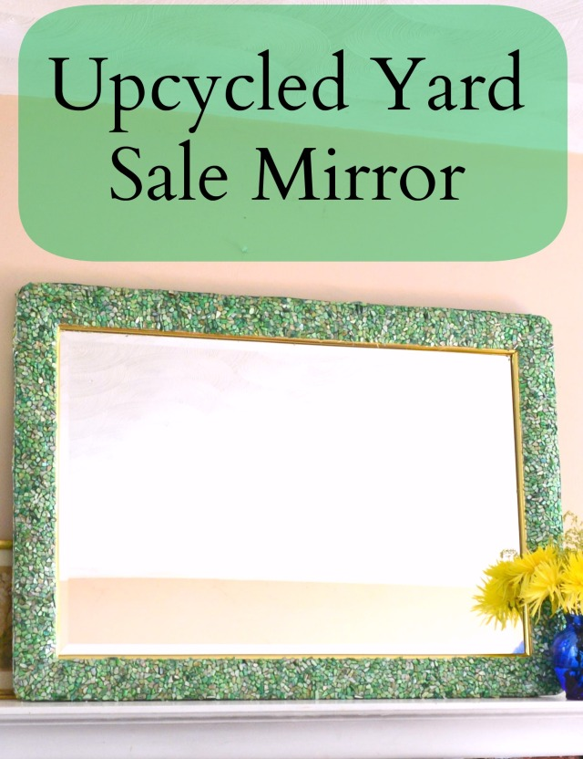 Yard Sale Find Upcycled Mirror
