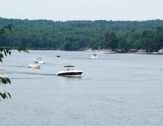 Boating on Lake Winni