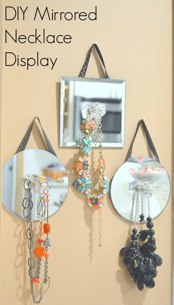 DIY Mirrored Necklace Display 2