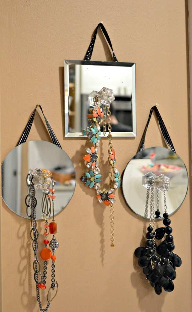 DIY Mirrored Necklace Display 4