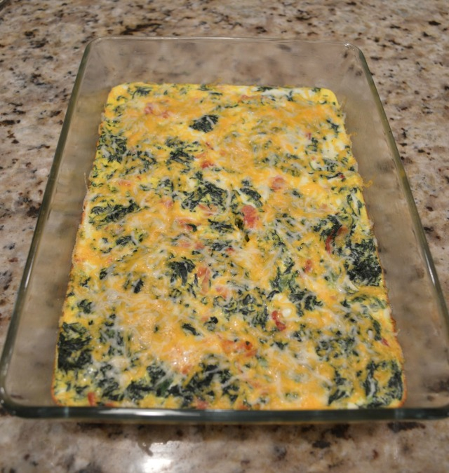 Egg Casserole - Cooked