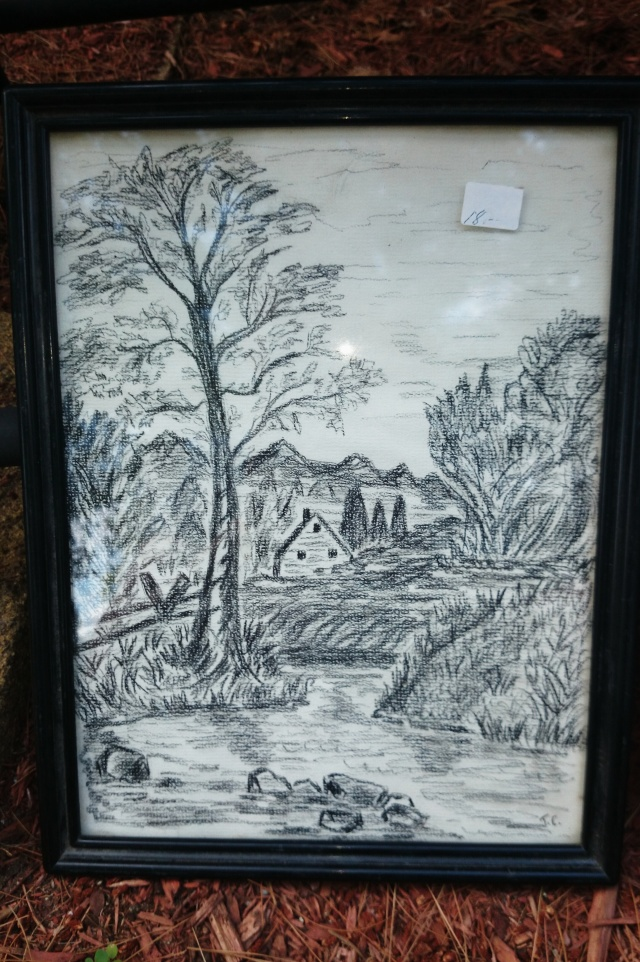 Framed Sketch of Home