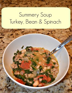 Turkey, Bean and Spinach Soup